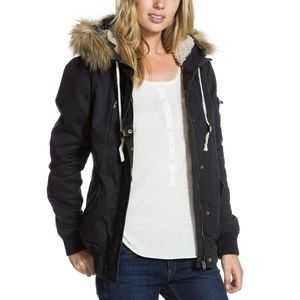 Roxy's Charcoal Grey Locked Out Hooded Jacket